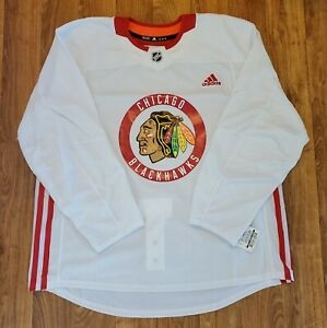 Adidas Chicago Blackhawks NHL Hockey Jersey Wht CR4300 Mens Sz 58 Made In Canada