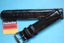 Real Teju Lizard Watch Band 20mm Black German Manufacturer