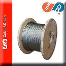 100 meter reel of 12mm 6X19 Fiber Core Galvanised Steel Cable / Wire Rope