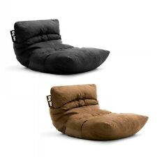 Floor Bean Bag Chair Lounger Large Chaise Microfiber Suede Gaming Adjustable Mat
