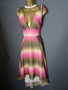 Matthew Williamson Ombre Dip Hem Dress UK Size 12 Spring Summer