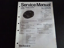 ORIGINALI service manual TECHNICS Portable CD Player sl-xp570