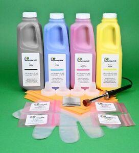 4-Color Refill Kit w/HM tool & Chips for Lexmark X746 X746de X748 X748de X748dte