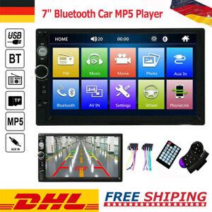 "7023B Doppel 2 DIN Mirror link 7"" HD Autoradio Bluetooth Stereo MP5 Player FM TF"