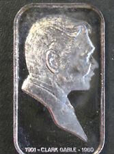 1973 Lincoln Mint Clark Gable Silver Art Bar LIN-3 P1681