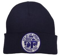 City Of Los Angeles Seal Knit Beanie Color Navy Hat