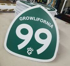 "Fresno Grizzlies ""Growlifornia Highway 99"" HustleHead Fat Heads.  ONE OF A KIND!"