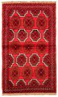 """Vintage Hand-Knotted Carpet 3'5"""" x 5'6"""" Traditional Oriental Wool Area Rug"""