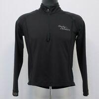 Harley Davidson Women's 1/4 Zip Pullover Size Small Sweatshirt Jacket Black