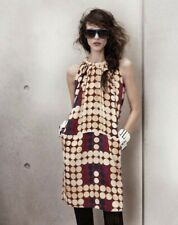 Marni for H&M Circle Print Silk Dress with Ruched neck NWOT Size US12 EUR 42