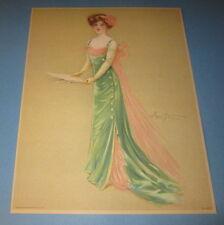 Old Vintage 1909 Antique VICTORIAN PRINT - Lady MUSICIAN - Singer - Maud Stumm