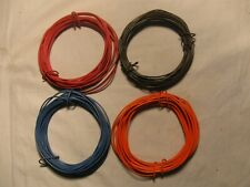 ' Train Wire,80' 20' Ea.Red,Blue,Orange,Brown 20ga Awg Stranded,Tinned