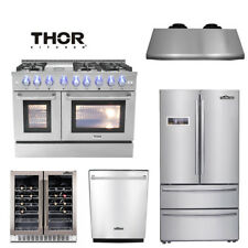"48"" Range  24 Dishwasher 36'' Refrigerator  Wine Cooler hood deals Thor kitchen"
