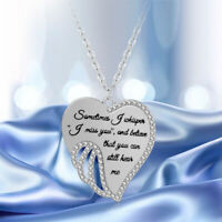 Mode Elegantegelsflügel Herzform Anhänger Halskette Schmuck Geschenke Re