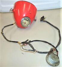 SEARS GILERA 106 HEAD LIGHT BUCKET & WIRE HARNESS SWITCH SPEEDO HORN headlight