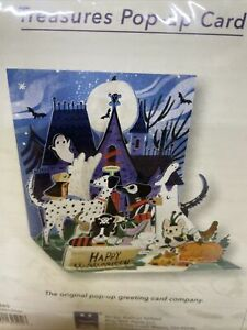 Happy Halloween Greeting Card 3D Pop Up Howloween Dogs Treasures Up With Paper