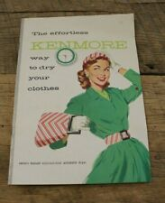 Vintage 1956 Booklet Owner's Manual The Effortless Kenmore Automatic Dryer