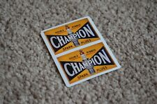 CHAMPION Spark Plugs Classic Race Car Stickers Decals Racing Bike F1 100mm