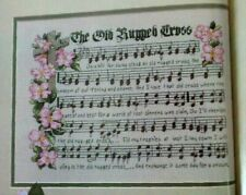 Cross Stitch Pattern The Old Rugged Cross Song Music Dogwood Cross Easter