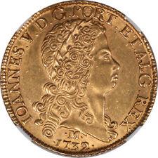 Brazil 1732 Joao Gold 12800 Reis NGC AU-58 EXTREMELY UNDERGRADED!!