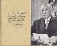 Dr. Konrad Adenauer +1967-1.Bundeskanzler,Buch Weihnachtsansprache1961,limitiert