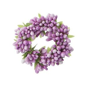 """Raz 4"""" Candle Ring Purple Spring Easter Home Decor Fits 2"""" Votive Candle"""