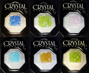 Lot 6 pcks Cousin Lead Crystal Elegance Beads Bicone various sizes colors 246 pc