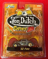 1:64 Jada Von Dutch Garage '32 Ford Bare Metal