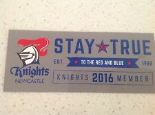 NRL NEWCASTLE KNIGHTS MEMBERS OFFICIAL TEAM  STICKER,RUGBY ATTRACTIVE BARGAIN 2