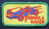 """FORMULA RACER EMBROIDERED SEW ON ONLY PATCH RACE RACING UNIFORM BADGE 4"""" x 2"""""""