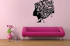 Decal Wall Beauty Salon Vinyl Decor Art Girl Hair Scissors Accessories Sticker