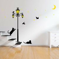 Glow in Dark Street Light Wall Sticker Home Decoration Mural Decal Paper Art