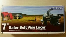 "NEW 7"" Clipper Vise Lacer Tool- Round Hay  Baler Belt Lacer Apache SALE"
