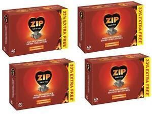 Zip Firelighters 30 Cubes Plus 33% Free Powerful & Long-Burning Energy Block