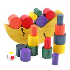 Moon Equilibrium Game Wooden Stacking Blocks Balancing Sorting Toy Kids Gifts