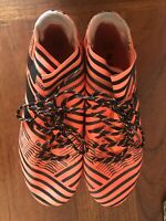 adidas Nemeziz 17.3 FG Soccer Cleats Solar Orange Black S80604 Men's 8
