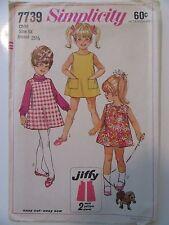 VTG Simplicity Pattern 7739 Girls Size 6x Jiffy All-Season Jumper Dress Uncut
