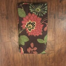 """One World Market Lined Brown Red Green Floral Paisley Curtain Panel 42"""" x 84"""""""