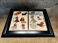 Lady And The Tramp Art Tiles - Signed Ollie Johnston Frank Thomas - WDCC Disney