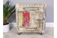 Reclaimed Wood Distressed Storage Cabinet Vintage Style
