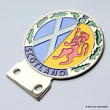 Old Unfitted Car Badge - Scotland Ecosse - Lion Rampant Saltire Thistle Mascot