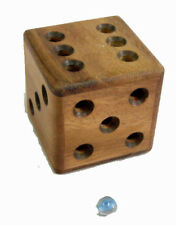 Magic Dice Cube wood brain teaser puzzle sz large
