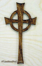 Celtic Cross, Handmade Baltic Birch Cross, Wall Hanging or Ornament, Item S3-7