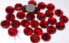 72 Ss30 Siam Rojo termoadhesivos Hot Fix Rhinestone Diamante