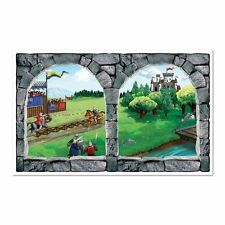 Medieval Castle Window Prop - 96 cm x 157 cm - Scene Setting Decorations