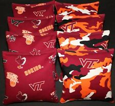 VIRGINIA TECH University Cornhole Beanbags 8 ACA Double Sided V Tech Hokies Bags