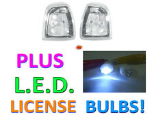 DEPO 01-06 FORD RANGER CLEAR CORNER SIGNAL LIGHTS LAMPS + LED LICENSE BULBS NEW