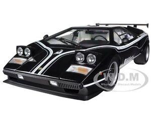 LAMBORGHINI COUNTACH LP500R BLACK 1/12 DIECAST MODEL CAR BY KYOSHO 08616