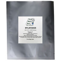 20-1 GALLON 10x16 Mylar Bags + 20-600 cc Oxygen Absorbers Long Term Food Storage