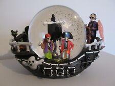 More details for halloween spooky ghost pirate ship light up snow globe ~ homesense tkmaxx ~ rare
